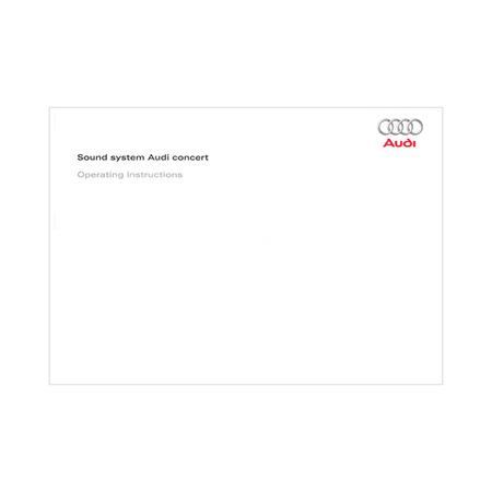 audi concert radio manual