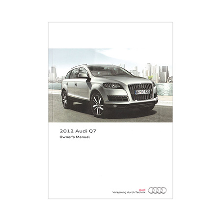 2012 Audi Q7 Owners Manual 1st Edition Us English Audi