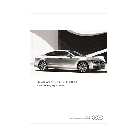 2012 Audi A7 Owners Manual 2nd Edition Canadian French Audi